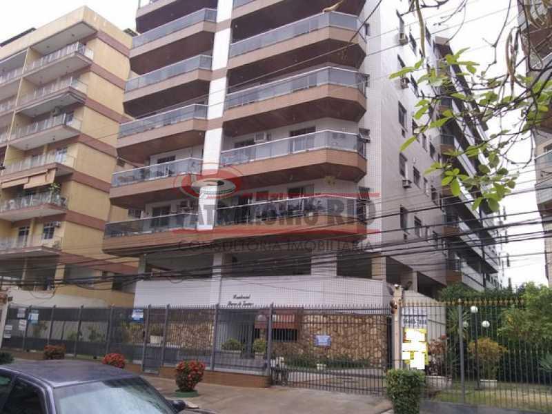 fachada2 - Oapartamento com 92m² no miolo da Praça Seca. - PAAP23917 - 1