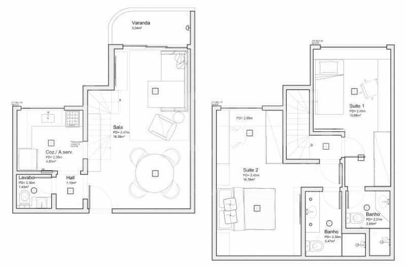 fotos-42 - Apartamento Recreio dos Bandeirantes, Rio de Janeiro, RJ À Venda, 2 Quartos, 80m² - PEAP20151 - 7