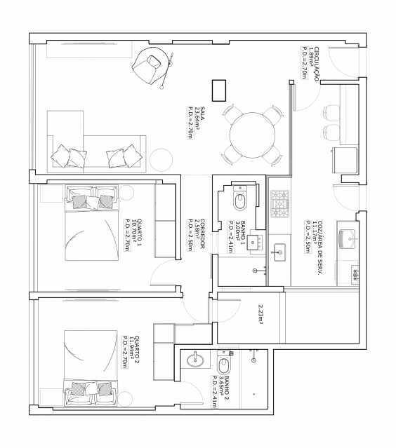 13 - Apartamento 2 quartos à venda Botafogo, Rio de Janeiro - R$ 790.000 - PEAP20417 - 14