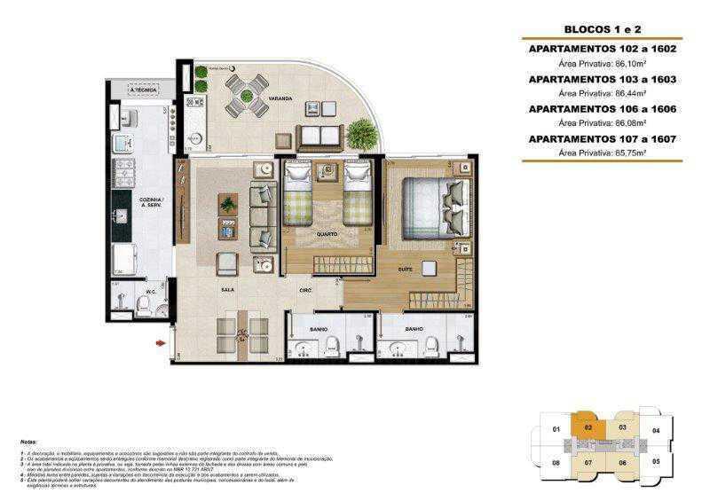 planta. - Apartamento 2 quartos à venda Barra da Tijuca, Rio de Janeiro - R$ 773.000 - PEAP20440 - 5
