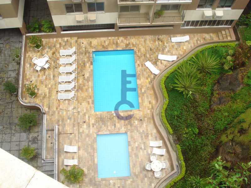 6 - vista varanda sala - Apartamento À VENDA, Grajaú, Rio de Janeiro, RJ - EC3886 - 19