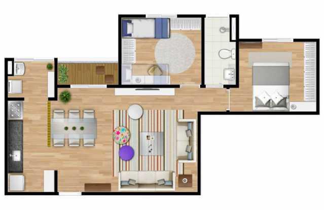 PLANTA RESIDENCIAL - Fachada - Edifício Comercial Praxx Itatiba - 79 - 5