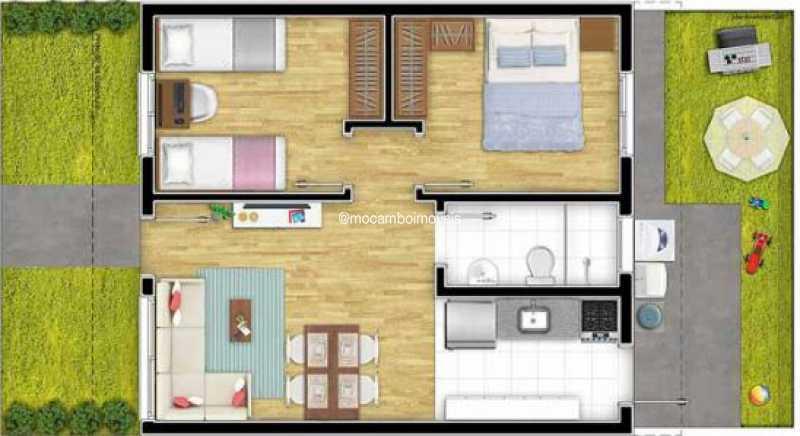 Planta - Casa em Condomínio 2 quartos à venda Itatiba,SP - R$ 215.000 - FCCN20045 - 3