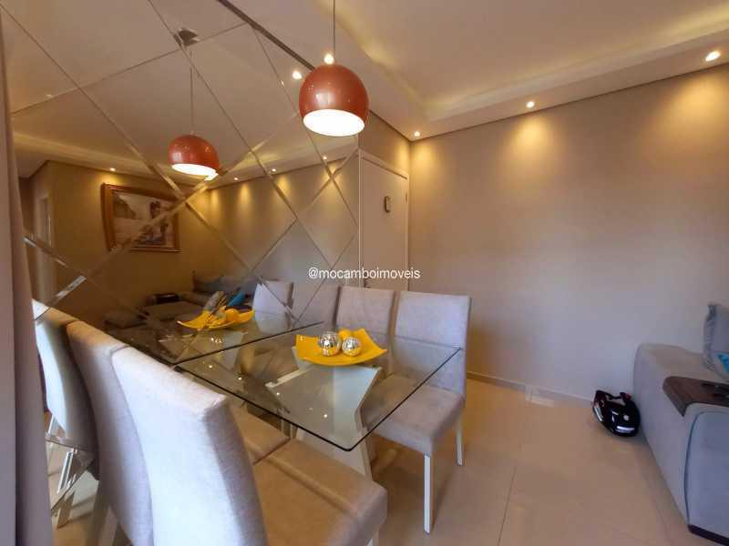 Sala de jantar - Apartamento 2 quartos para alugar Itatiba,SP - R$ 1.170 - FCAP21317 - 5