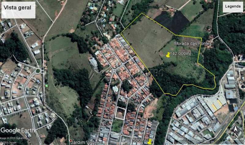 Vista aérea - Sítio 142000m² à venda Itatiba,SP - R$ 12.070.000 - FCSI00002 - 1