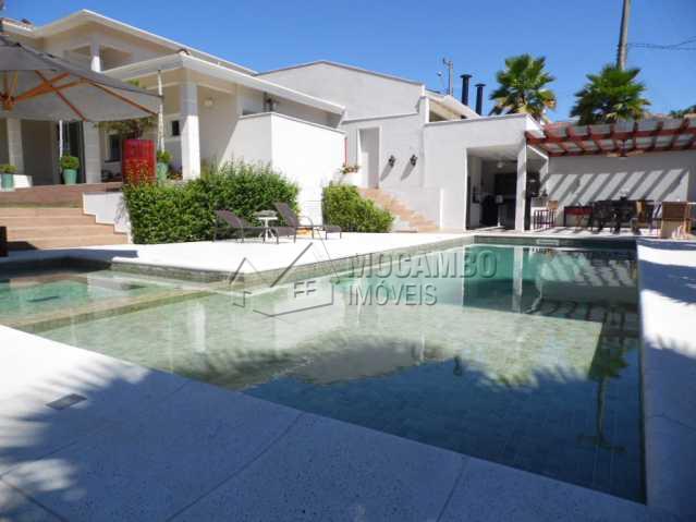 vista da piscina - Casa em Condomínio 3 quartos para alugar Itatiba,SP - R$ 10.500 - FCCN30117 - 1