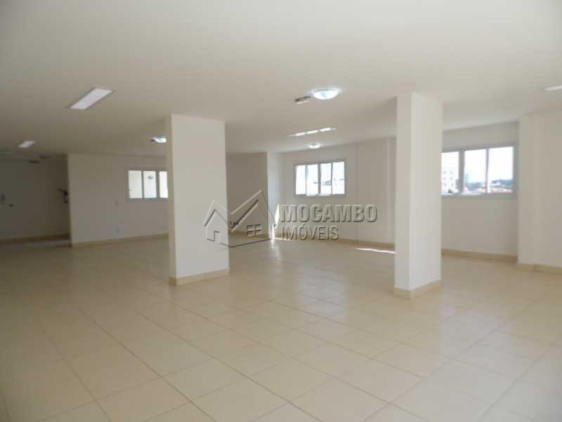 Salão de festas - Apartamento Para Alugar no Condomínio Edifício Bella Morada - Loteamento Santo Antônio - Itatiba - SP - FCAP20461 - 13