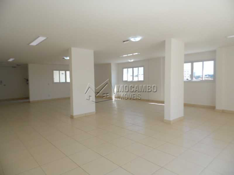 Salão de festas - Apartamento Para Alugar no Condomínio Edifício Bella Morada - Loteamento Santo Antônio - Itatiba - SP - FCAP20469 - 16