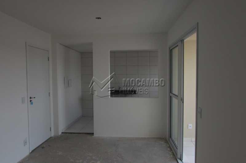Sala e Cozinha - Apartamento Condomínio Edifício Residencial Green Ville, Avenida Roberto Delphino,Itatiba, Bairro das Brotas, SP À Venda, 2 Quartos, 50m² - FCAP20484 - 4