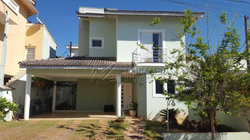 Fachada - Casa em Condominio À Venda - Itatiba - SP - Residencial Fazenda Serrinha - FCCN30287 - 1