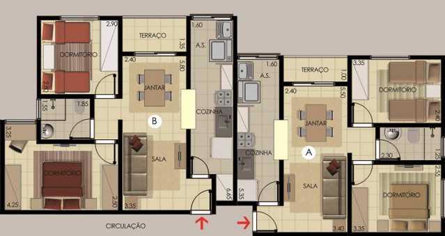 PLANTA - Apartamento 2 Quartos À Venda Itatiba,SP - R$ 170.000 - FCAP20672 - 11