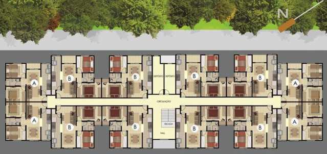 PLANTA - Apartamento 2 Quartos À Venda Itatiba,SP - R$ 170.000 - FCAP20672 - 12