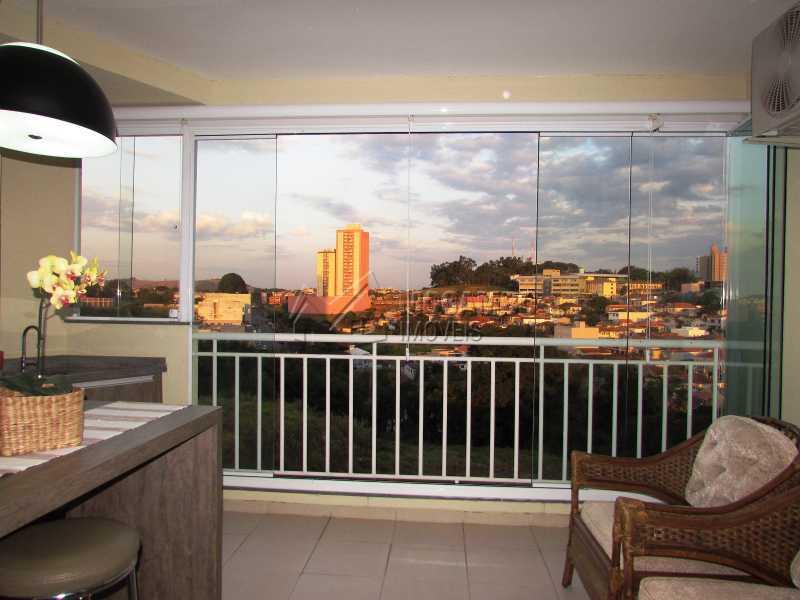 Varanda - Apartamento Condomínio Edifício Panorama, Itatiba, Centro, SP À Venda, 3 Quartos, 118m² - FCAP30439 - 6