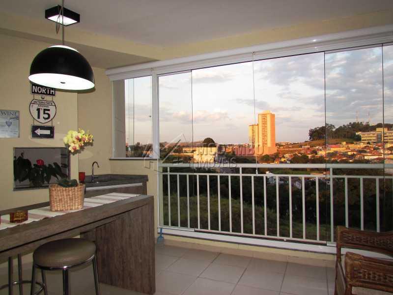 Varanda - Apartamento Condomínio Edifício Panorama, Itatiba, Centro, SP À Venda, 3 Quartos, 118m² - FCAP30439 - 1