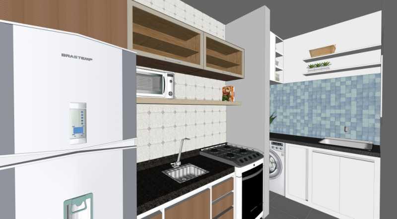 Cozinha - Apartamento Lançamento Itatiba Hill Alta Vista Itatiba, Loteamento Morrão Da Força, SP, À Venda, 2 Quartos, 50m² - FCAP20782 - 6