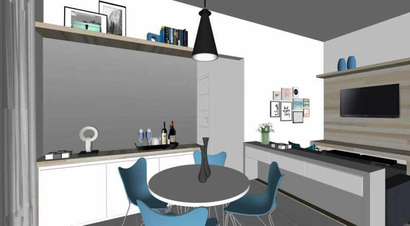 Sala TV - Apartamento Lançamento Itatiba Hill Alta Vista Itatiba, Loteamento Morrão Da Força, SP, À Venda, 2 Quartos, 50m² - FCAP20782 - 8