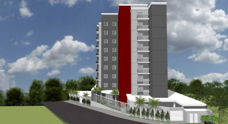 Fachada de esquina - Apartamento Lançamento Itatiba Hill Alta Vista Itatiba, Loteamento Morrão Da Força, SP, À Venda, 2 Quartos, 50m² - FCAP20785 - 7
