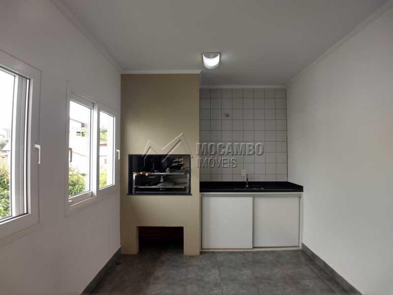 Área de Churrasqueira - Casa em Condominio Para Alugar - Itatiba - SP - Residencial Fazenda Serrinha - FCCN40119 - 17