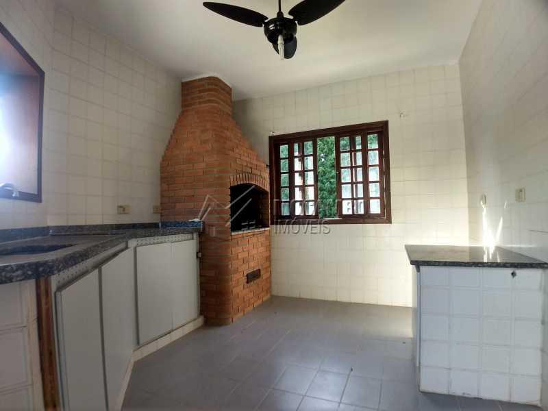 Área de Churrasqueira - Casa em Condominio Para Alugar - Itatiba - SP - Ville Chamonix - FCCN30364 - 25