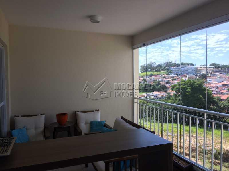 Varanda - Apartamento Condomínio Edifício Panorama, Rua Augusto Cioffi,Itatiba, Centro, SP À Venda, 3 Quartos, 118m² - FCAP30459 - 8