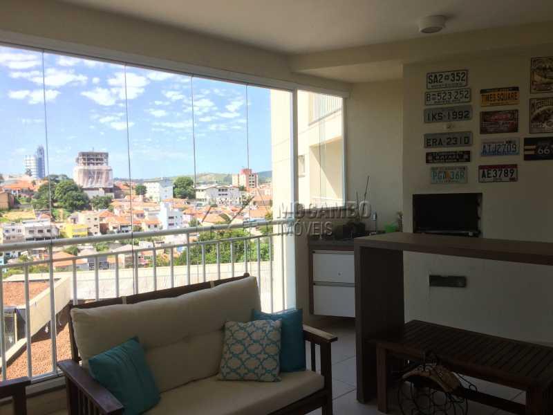 Varanda - Apartamento Condomínio Edifício Panorama, Rua Augusto Cioffi,Itatiba, Centro, SP À Venda, 3 Quartos, 118m² - FCAP30459 - 7