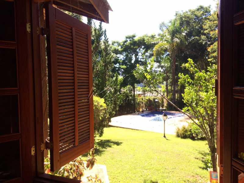 Vista janela sala - Casa em Condominio À Venda - Itatiba - SP - Sítio da Moenda - FCCN30372 - 9