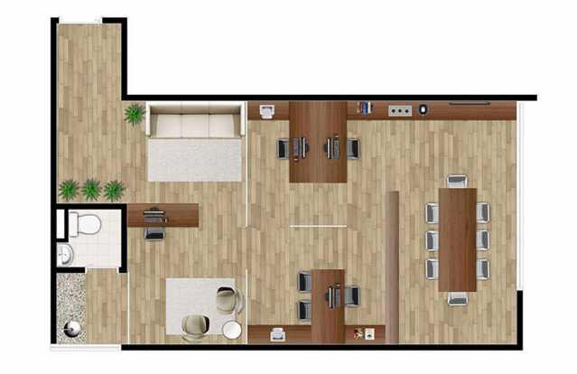 PLANTA COMERCIAL - Sala Comercial 35m² Para Alugar Itatiba,SP - R$ 1.400 - FCSL00186 - 12