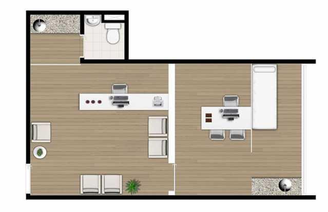 PLANTA COMERCIAL - Sala Comercial 35m² Para Alugar Itatiba,SP - R$ 1.400 - FCSL00186 - 13