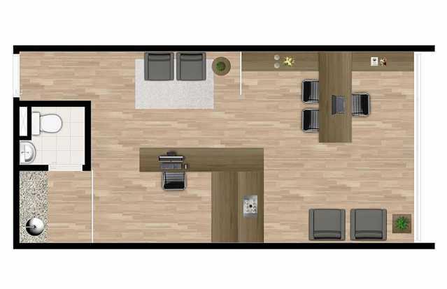 PLANTA COMERCIAL - Sala Comercial 35m² Para Alugar Itatiba,SP - R$ 1.400 - FCSL00186 - 14