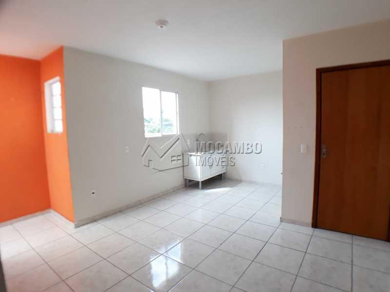 Sala/Cozinha - Apartamento Para Alugar - Itatiba - SP - Jardim Santa Filomena - FCAP20904 - 3
