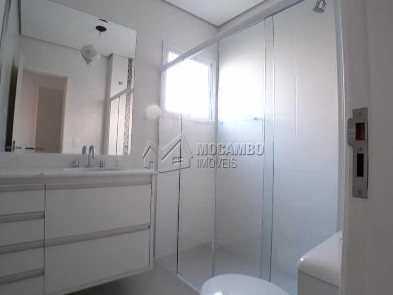 Banheiro - Apartamento Condomínio Residencial Luiza, Itatiba, Jardim Belém, SP Para Alugar, 3 Quartos, 90m² - FCAP30511 - 9
