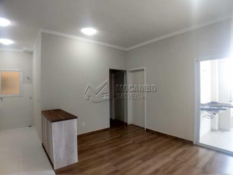 Sala - Apartamento Condomínio Residencial Manacás, Itatiba, Loteamento Santo Antônio, SP Para Alugar, 2 Quartos, 62m² - FCAP20994 - 3
