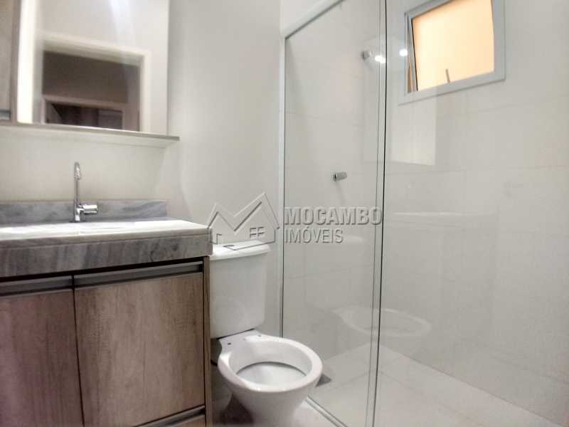 Banheiro Suíte - Apartamento Condomínio Residencial Manacás, Itatiba, Loteamento Santo Antônio, SP Para Alugar, 2 Quartos, 62m² - FCAP20994 - 6