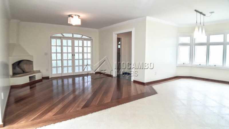 Sala com Lareira  - Casa em Condomínio 4 quartos à venda Itatiba,SP - R$ 1.200.000 - FCCN40151 - 5
