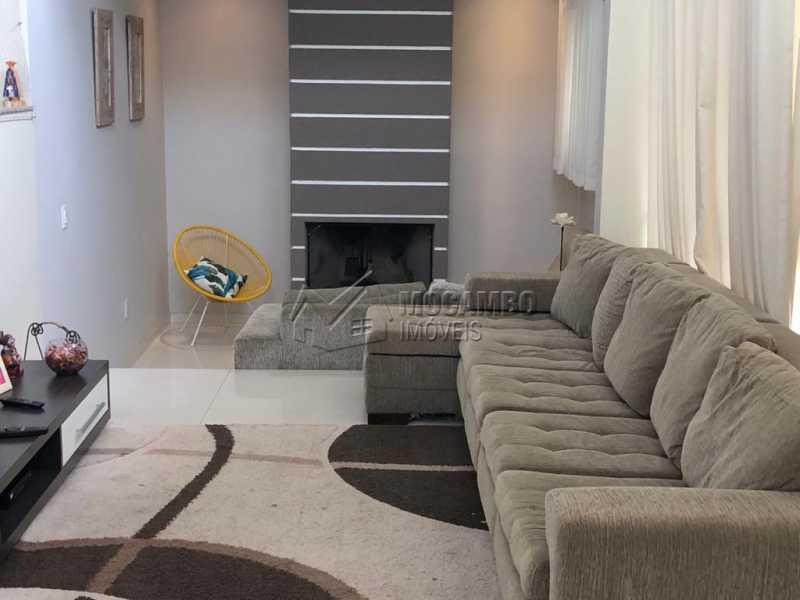 sala com lareira - Casa em Condomínio 3 quartos à venda Itatiba,SP - R$ 960.000 - FCCN30458 - 14
