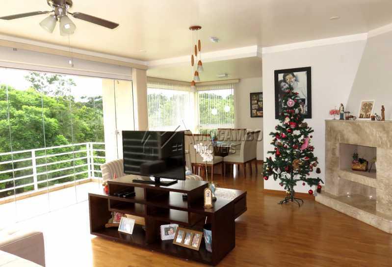 Sala - Casa em Condomínio 4 quartos para venda e aluguel Itatiba,SP - R$ 13.200 - FCCN40159 - 4