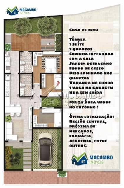 planta casa de baixo - Casa 3 quartos à venda Itatiba,SP - R$ 325.000 - FCCA31374 - 18