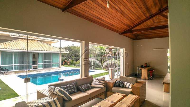 sala de estar área gourmet - Casa em Condomínio 4 quartos à venda Itatiba,SP - R$ 3.000.000 - FCCN40167 - 19