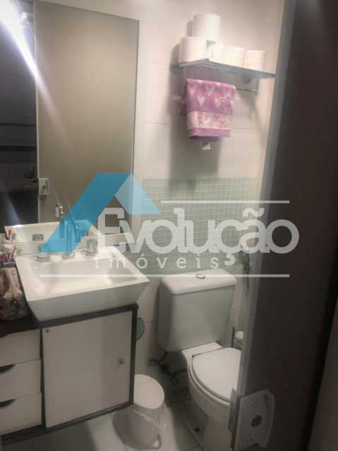 BANHEIRO DA SUÍTE - Cobertura 3 quartos à venda Campo Grande, Rio de Janeiro - R$ 880.000 - V0256 - 17