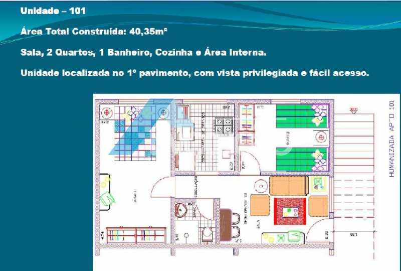 PLANTA 1 - Casa em Condomínio 2 quartos à venda Cosmos, Rio de Janeiro - R$ 150.000 - V0275 - 3