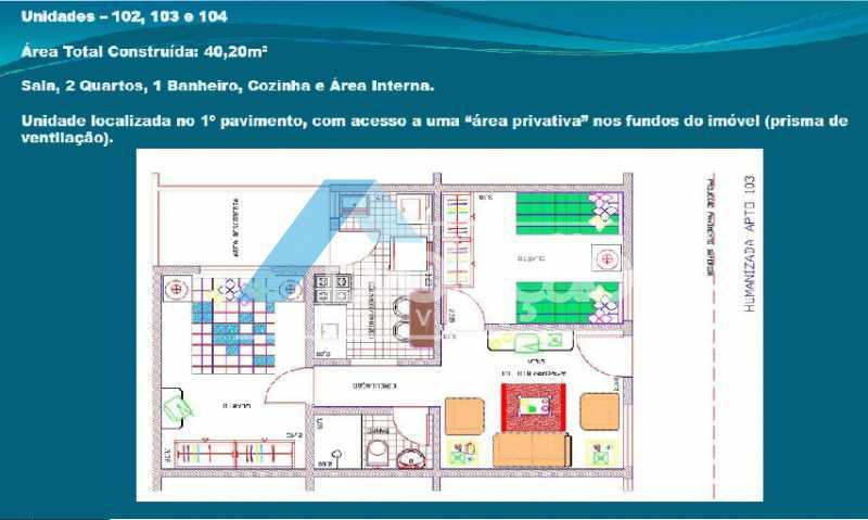 PLANTA 2 - Casa em Condomínio 2 quartos à venda Cosmos, Rio de Janeiro - R$ 150.000 - V0275 - 4