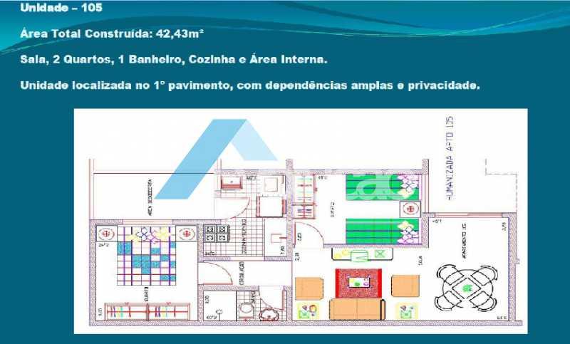 PLANTA 3 - Casa em Condomínio 2 quartos à venda Cosmos, Rio de Janeiro - R$ 150.000 - V0275 - 5