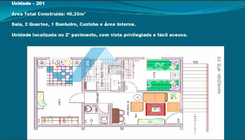 PLANTA 4 - Casa em Condomínio 2 quartos à venda Cosmos, Rio de Janeiro - R$ 150.000 - V0275 - 6
