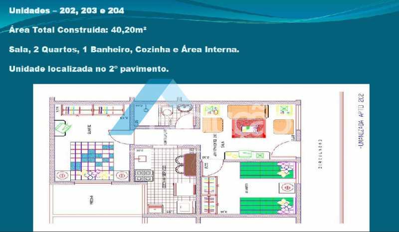 PLANTA 5 - Casa em Condomínio 2 quartos à venda Cosmos, Rio de Janeiro - R$ 150.000 - V0275 - 7