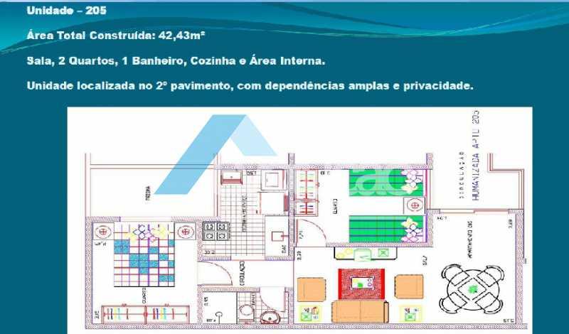 PLANTA 6 - Casa em Condomínio 2 quartos à venda Cosmos, Rio de Janeiro - R$ 150.000 - V0275 - 8