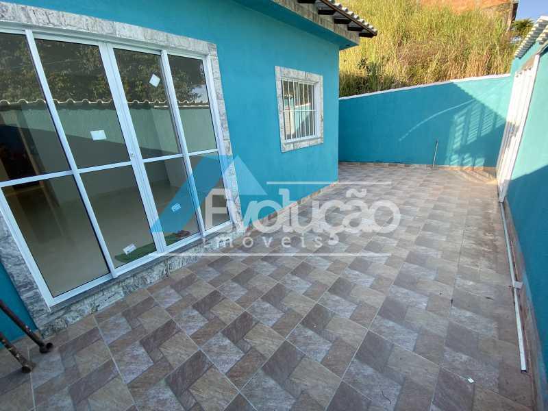 FRENTE QUINTAL - Casa à venda Rua Farol de São Tomé,Campo Grande, Rio de Janeiro - R$ 285.000 - V0299 - 24