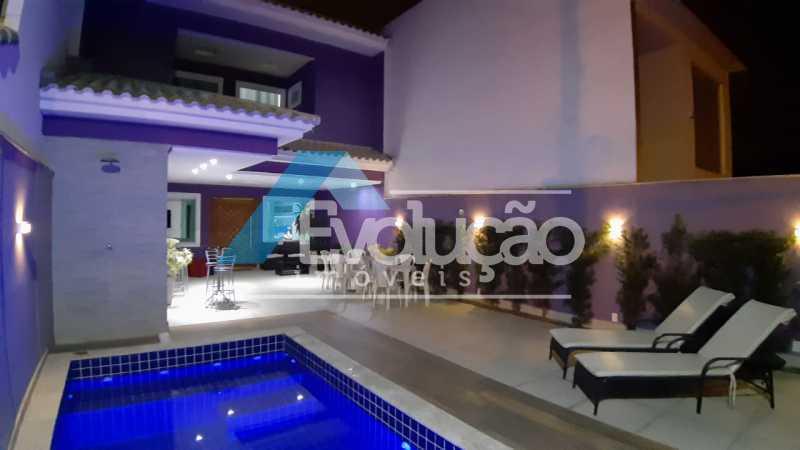 AREA GOURMET - Casa em Condomínio 5 quartos à venda Campo Grande, Rio de Janeiro - R$ 1.325.000 - V0312 - 1