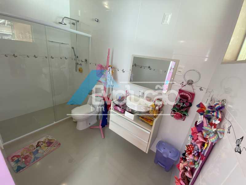 BANHEIRO DA SUÍTE - Casa em Condomínio 3 quartos à venda Campo Grande, Rio de Janeiro - R$ 800.000 - V0343 - 13