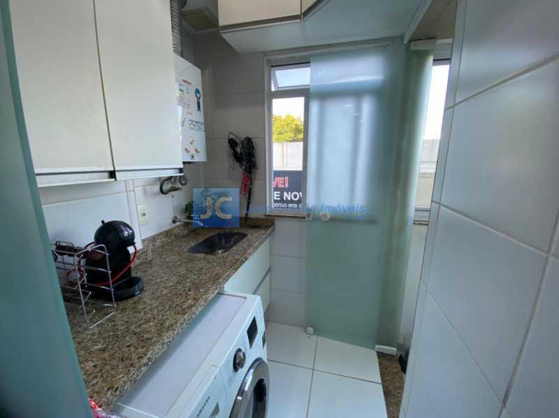 16area serviço - Apartamento à venda Estrada Benvindo de Novais,Recreio dos Bandeirantes, Rio de Janeiro - R$ 535.000 - CBAP30118 - 16