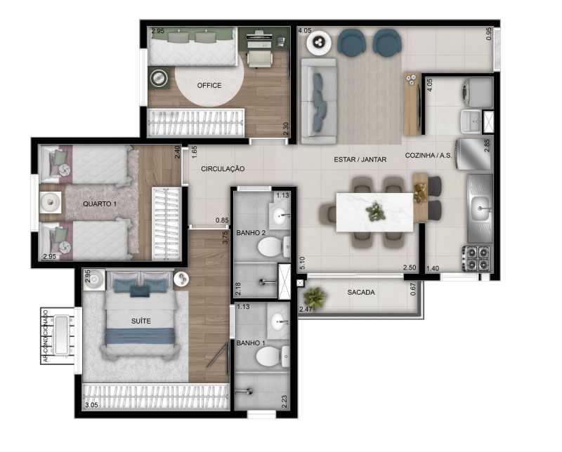 WhatsApp Image 2021-10-01 at 1 - Apartamento 3 quartos à venda Parque Amazônia, Goiânia - R$ 350.000 - VIAP30003 - 6